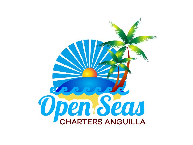 OPEN SEAS CHARTERS ANGUILLA logo design by karjen