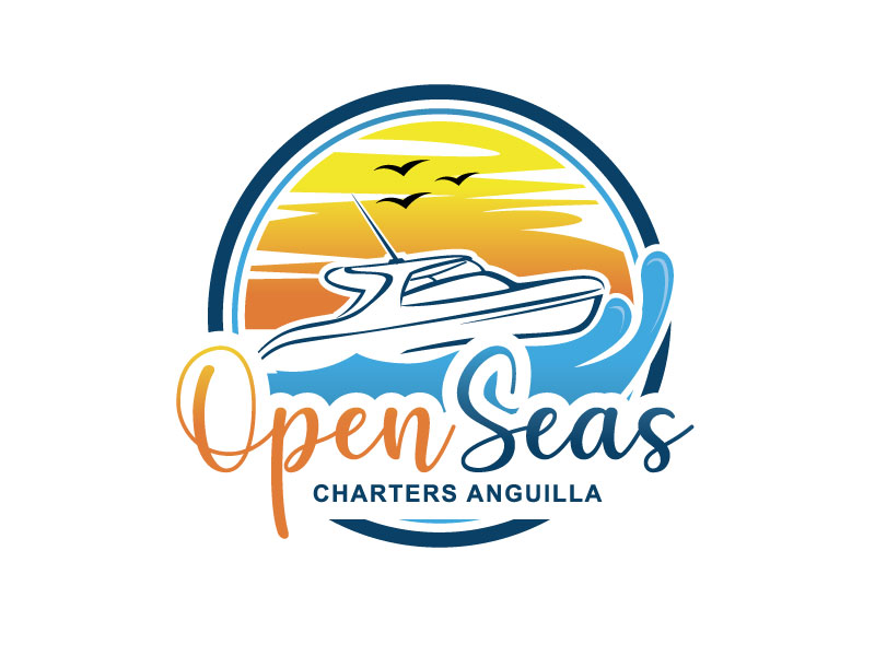 OPEN SEAS CHARTERS ANGUILLA logo design by REDCROW