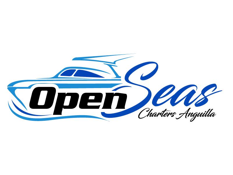 OPEN SEAS CHARTERS ANGUILLA logo design by Suvendu