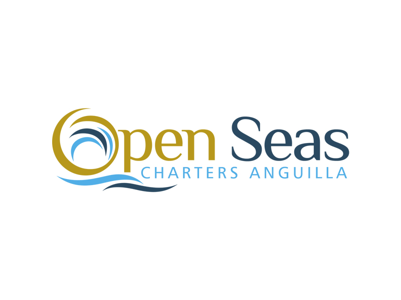 OPEN SEAS CHARTERS ANGUILLA logo design by ingepro