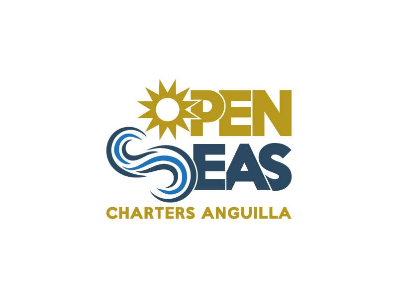 OPEN SEAS CHARTERS ANGUILLA logo design by nona
