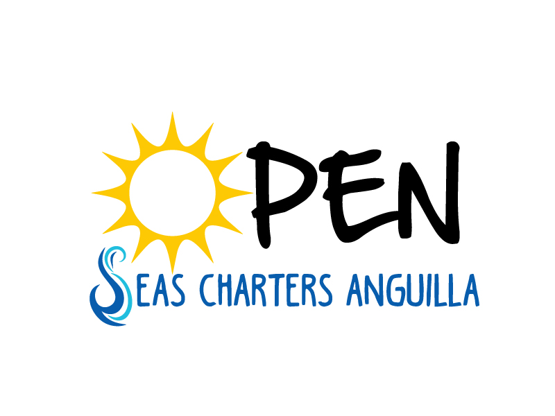 OPEN SEAS CHARTERS ANGUILLA logo design by ElonStark