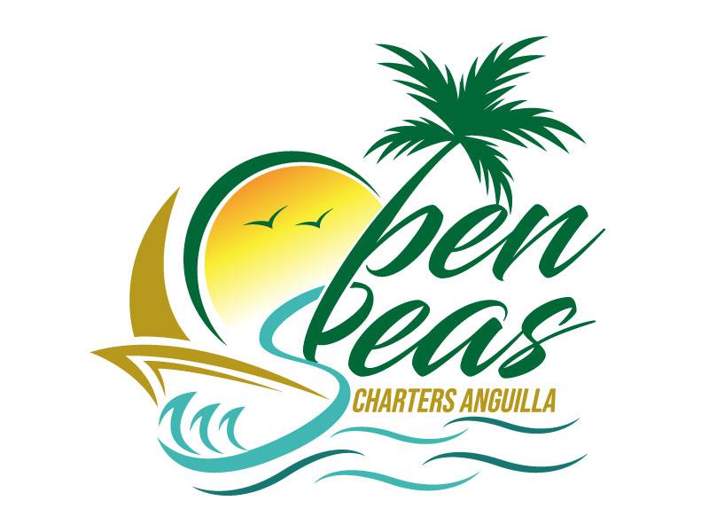 OPEN SEAS CHARTERS ANGUILLA logo design by LogoQueen