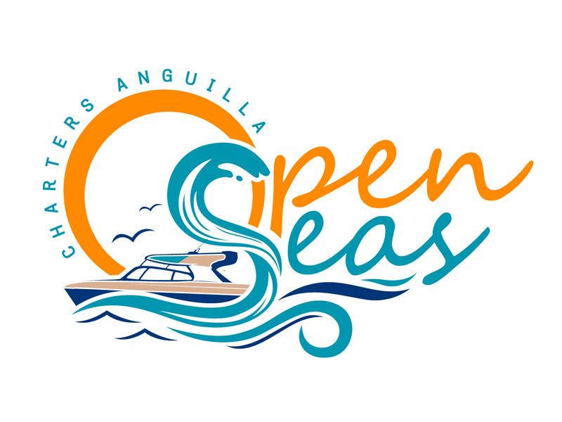 OPEN SEAS CHARTERS ANGUILLA logo design by DreamLogoDesign