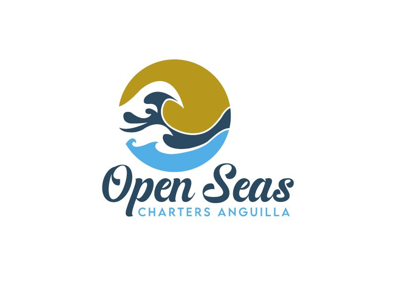 OPEN SEAS CHARTERS ANGUILLA logo design by Marianne