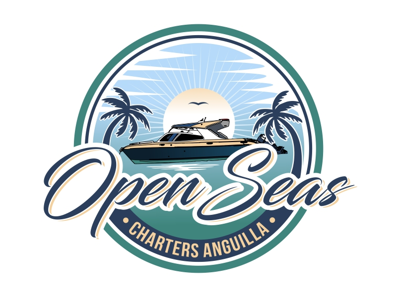 OPEN SEAS CHARTERS ANGUILLA logo design by AnandArts