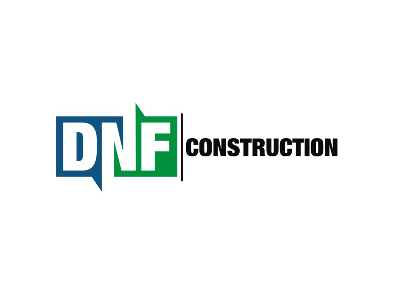 DNF CONSTRUCTION logo design by Dian..cox