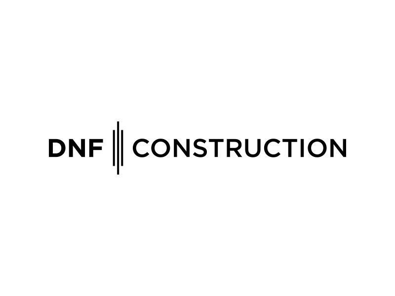 DNF CONSTRUCTION logo design by EkoBooM