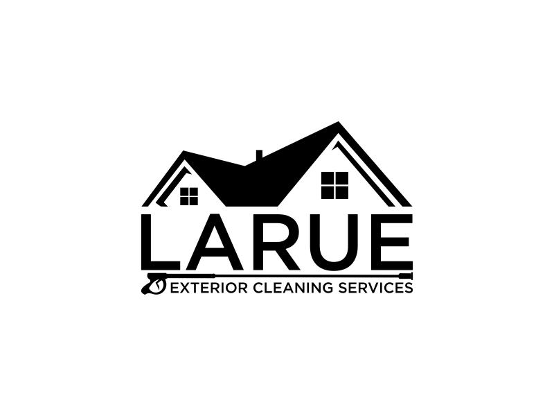 Larue exterior cleaning services logo design by luckyprasetyo
