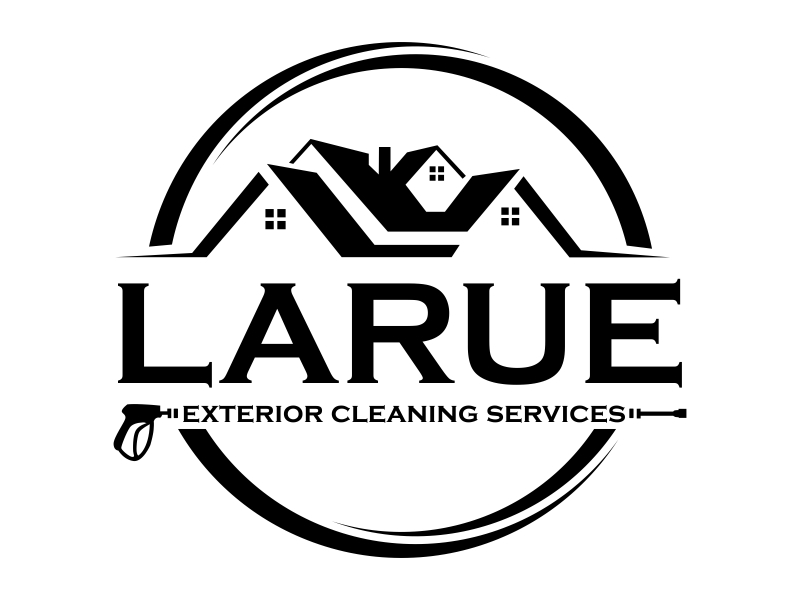 Larue exterior cleaning services logo design by qqdesigns