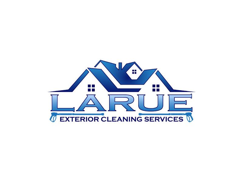 Larue exterior cleaning services logo design by T Maulana Assa