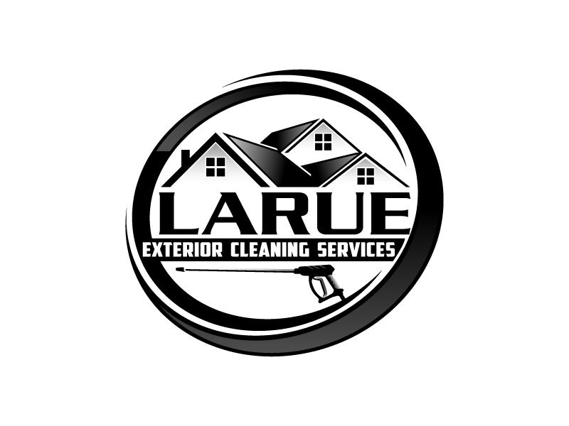 Larue exterior cleaning services logo design by Vu Acim
