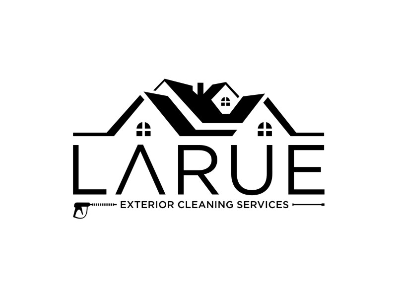 Larue exterior cleaning services logo design by KQ5