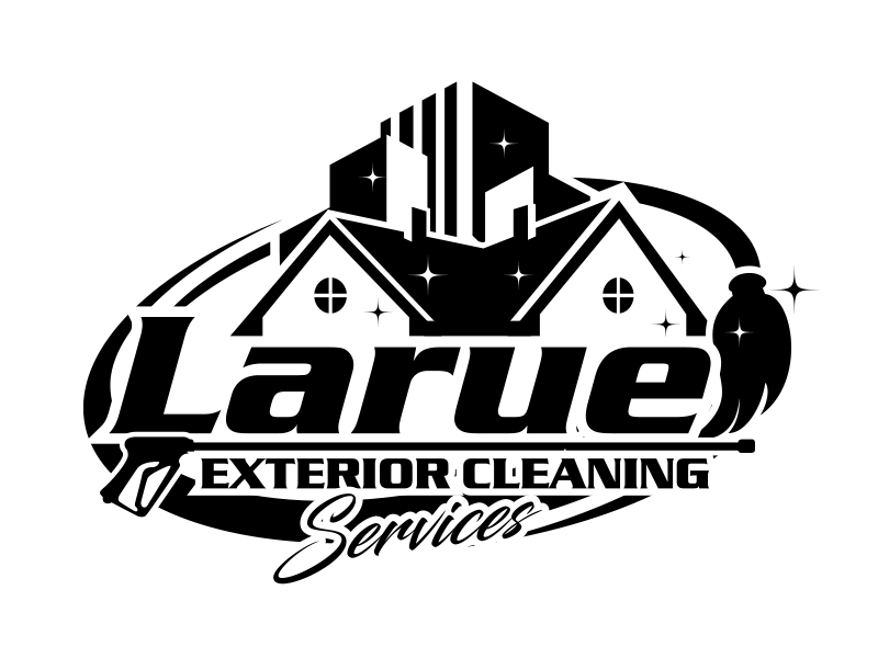 Larue exterior cleaning services logo design by MarkindDesign™