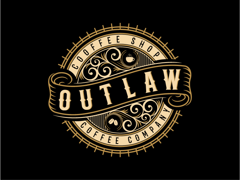 Outlaw Coffee Company logo design by Graphico Ali
