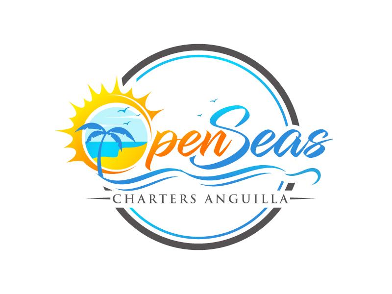OPEN SEAS CHARTERS ANGUILLA logo design by sanworks