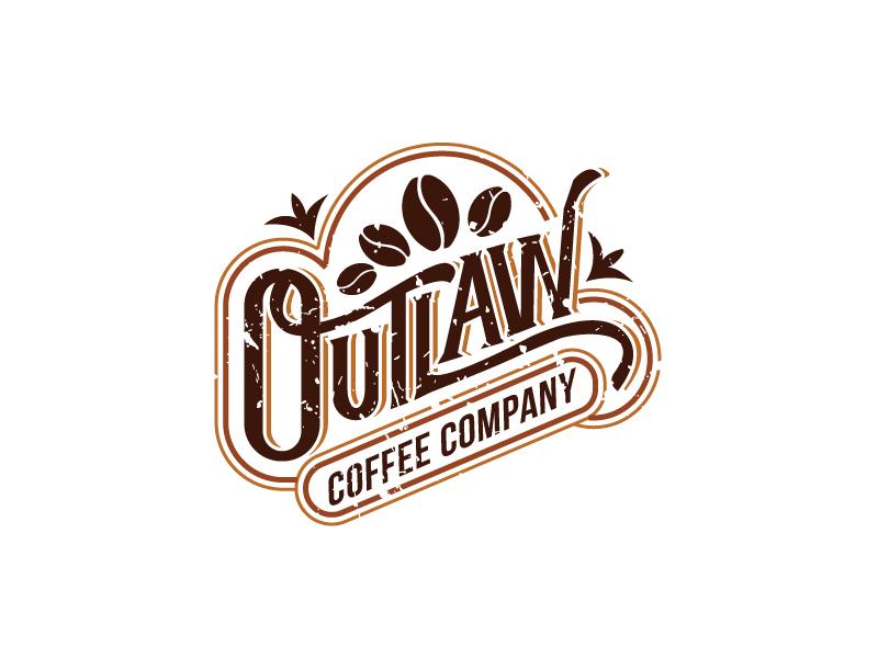 Outlaw Coffee Company logo design by Foxcody