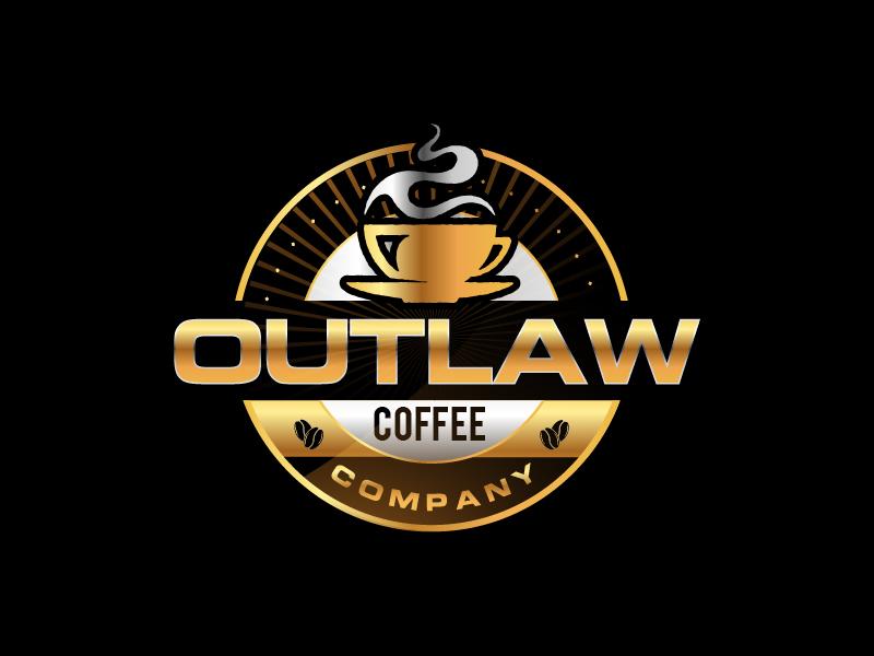 Outlaw Coffee Company logo design by fawadyk