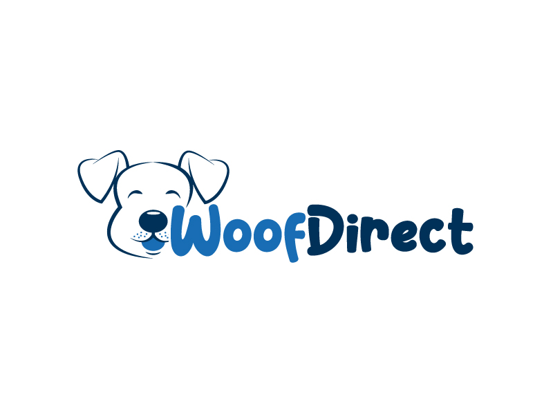 WoofDirect Logo Design