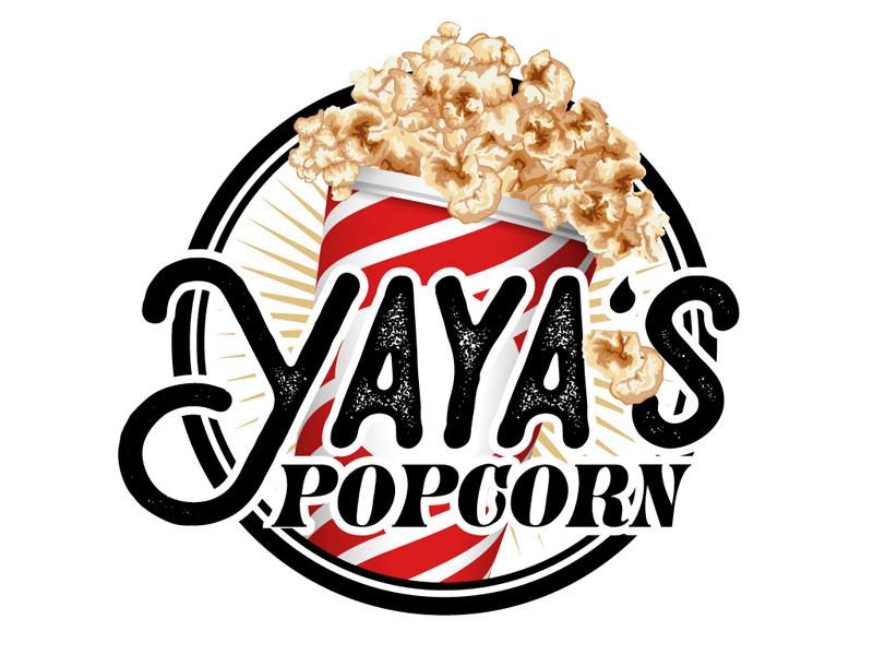 Yaya's Popcorn Logo Design