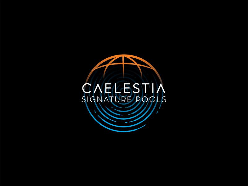 Caelestia signature pools logo design by sigorip