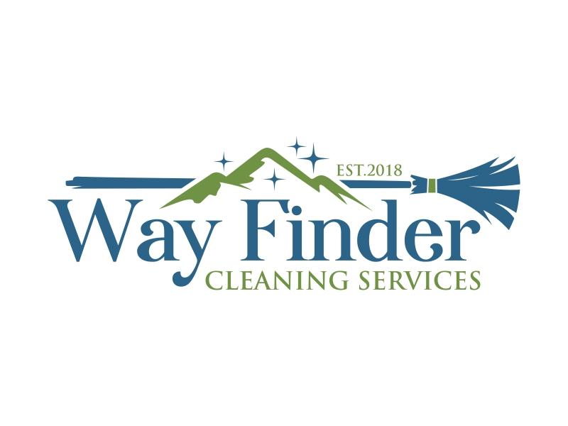 Way Finder Cleaning Services Logo Design