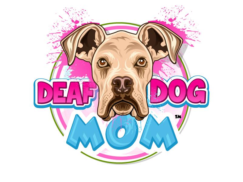 Deaf Dog Mom Logo Design