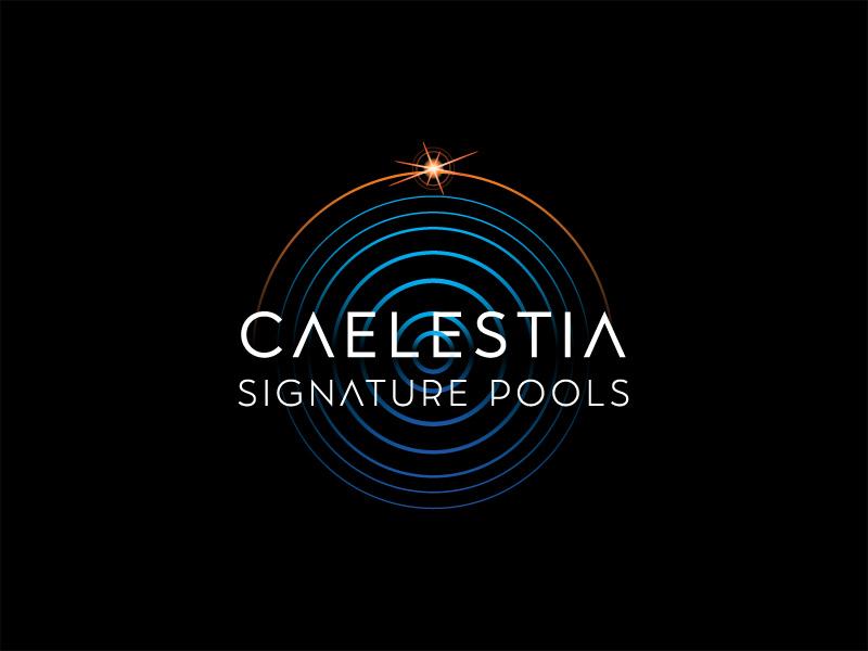 Caelestia signature pools Logo Design