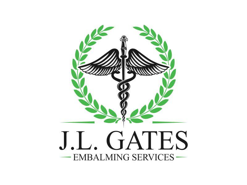 J.L. Gates Embalming Services Logo Design