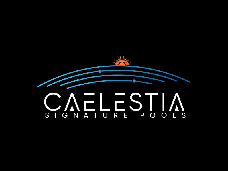 Caelestia signature pools logo design by Erasedink