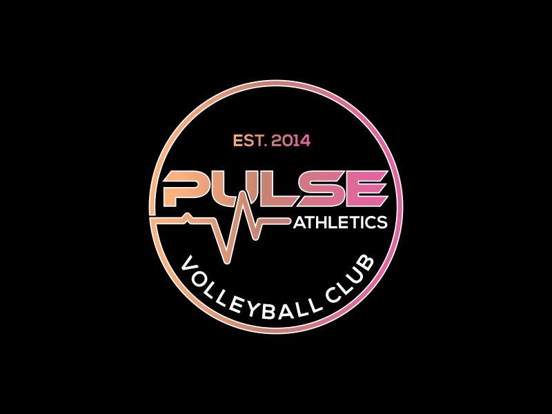 PULSE ATHLETICS VOLLEYBALL CLUB or PULSE VOLLEYBALL CLUB Logo Design