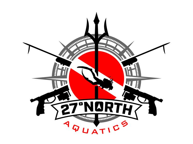27-North Aquatics Logo Design