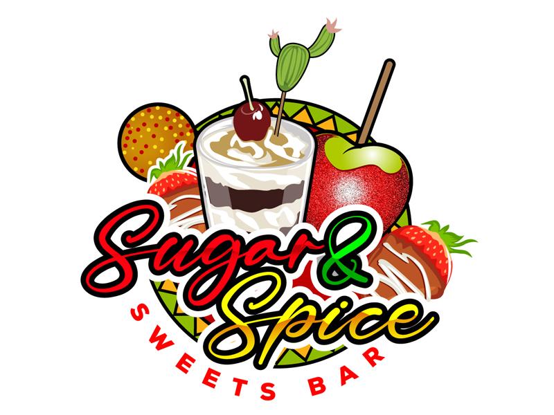 Sugar & Spice Sweets Bar Logo Design