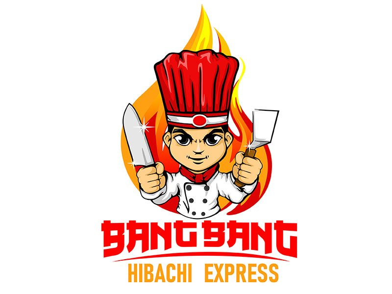 Bang Bang Hibachi Express Logo Design