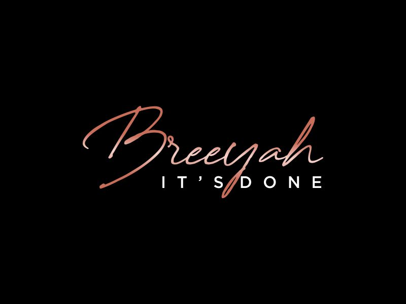 Breeyah It's Done ✔️ logo design by oke2angconcept