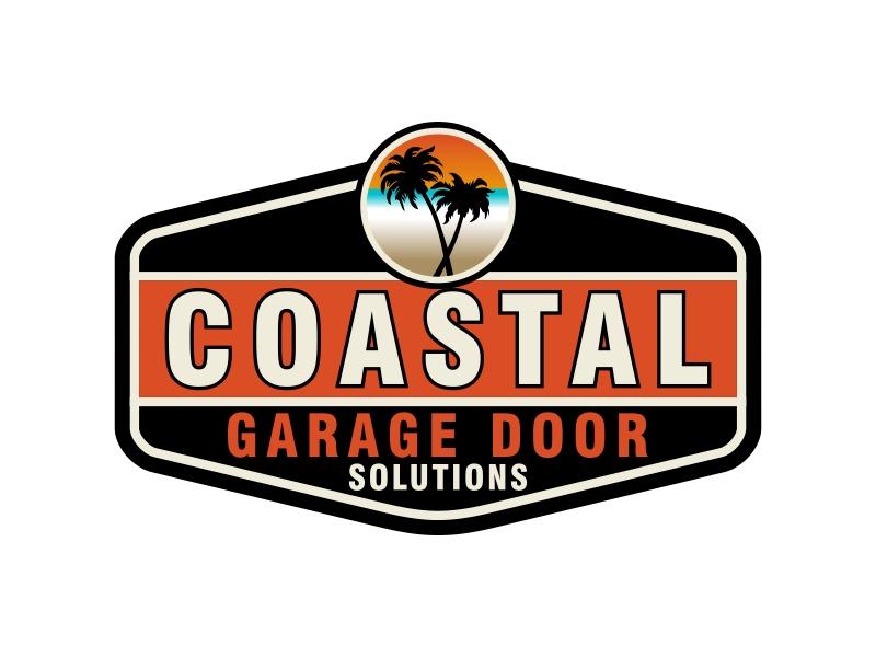 Coastal Garage Door Solutions logo design by Kruger