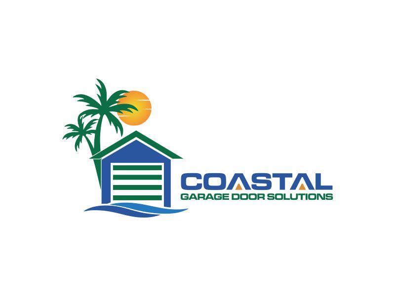 Coastal Garage Door Solutions logo design by oke2angconcept