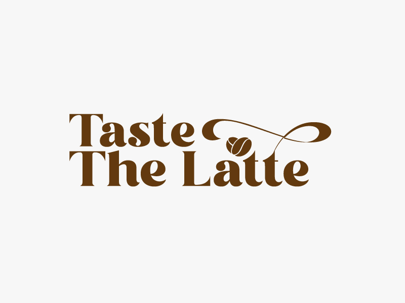 Taste The Latte logo design by Sami Ur Rab