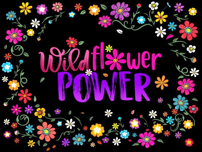 Wildflower Power Logo Design