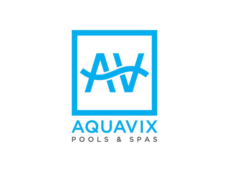 Aquavix Pools Logo Design