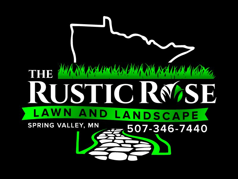 The Rustic Rose Lawn and Landscape Logo Design