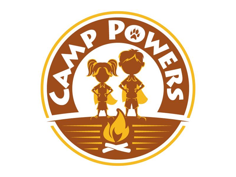 Camp Powers Logo Design